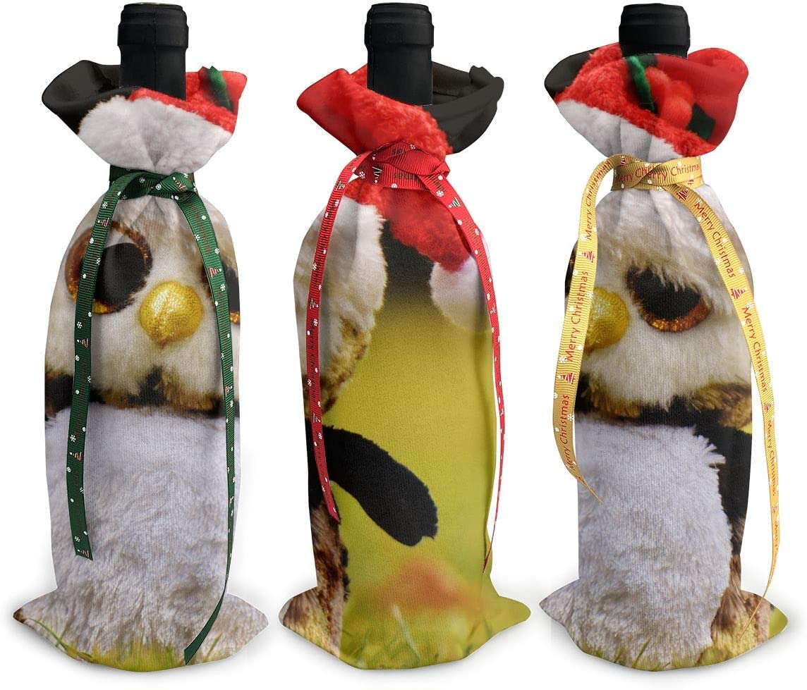 NBteach Cute Christmas Cap Plush 3pcs Toy New Free Shipping Limited time sale Xmas Penguin