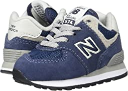 sports shoes 89ca4 6837e New balance kids 574 infant toddler grey black + FREE ...