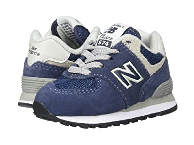 New Balance Kids K574v1I (Infant/Toddler) (Navy/Grey) Boys Shoes