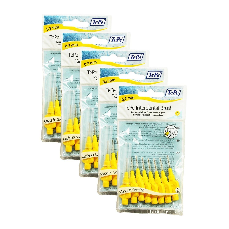 トレースファーザーファージュ居間TePe Interdental Brushes YELLOW 0.70 mm - 40 Brushes (5 Packs of 8) by TePe