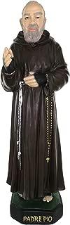Ferrari & Arrighetti Padre Pio Statue, Hand-Painted Plaster (43 cm)