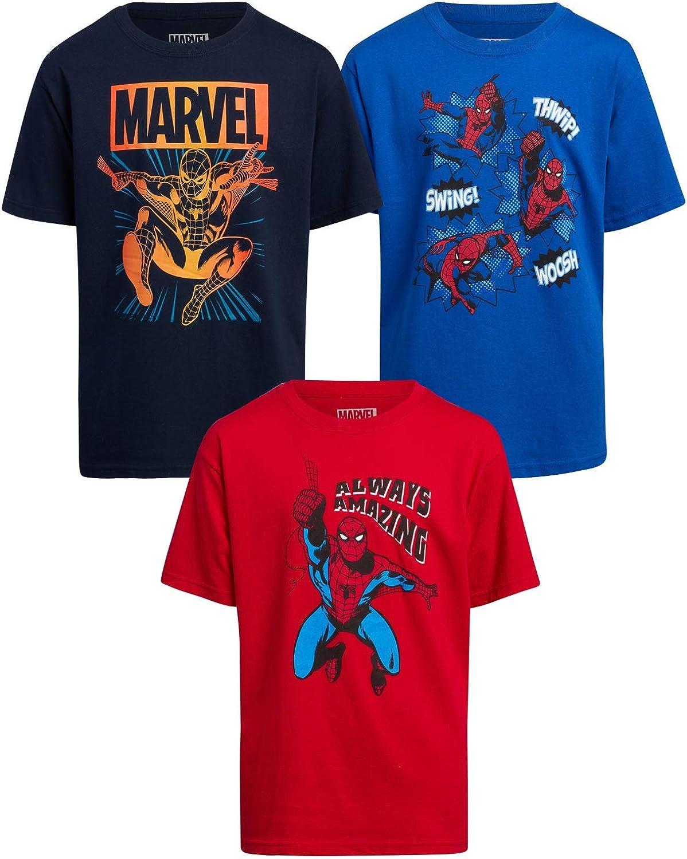 Marvel Spider-Man Boys 3 Pack Spidey T-Shirt (Little/Big Boys)