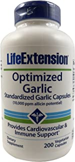 Life Extension - Optimized Garlic - 200 Vcaps (Pack of 2)