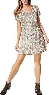 Lucky Brand Womens Printed A-Line Dress