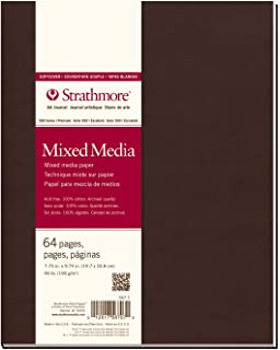 """Strathmore (567-5) 500 Series Softcover Mixed Media Art Journal, 8"""" x 5.5"""", 32 Sheets 7.75"""" x 9.75"""""""