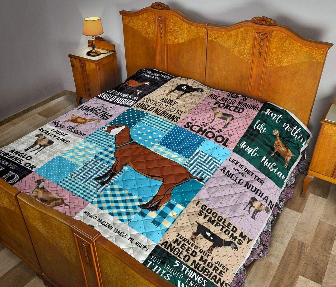 Personalized Anglo Nubian Quilt to Son Daughter Best Kids Clearance SALE Limited time Decora Popular popular