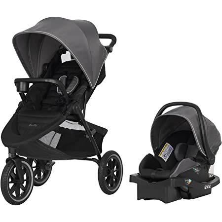Evenflo Folio3 Stroll & Jog Travel System with LiteMax 35 Infant Car Seat, Avenue