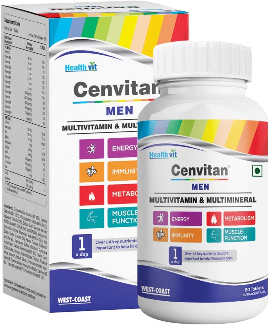 Atlanta Mall Healthvit Genuine Free Shipping Cenvitan Men Multivitamins and Multiminerals - Tablets