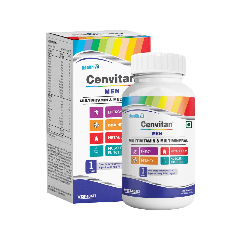 Healthvit Cenvitan Men Multivitamins Multiminerals is the best multivitamin for men in india