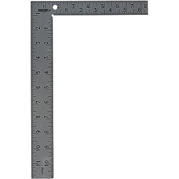 """Johnson Level & Tool CS10 Professional Easy-Read Steel Carpenter Square, 8"""" x 12"""", Original Version"""
