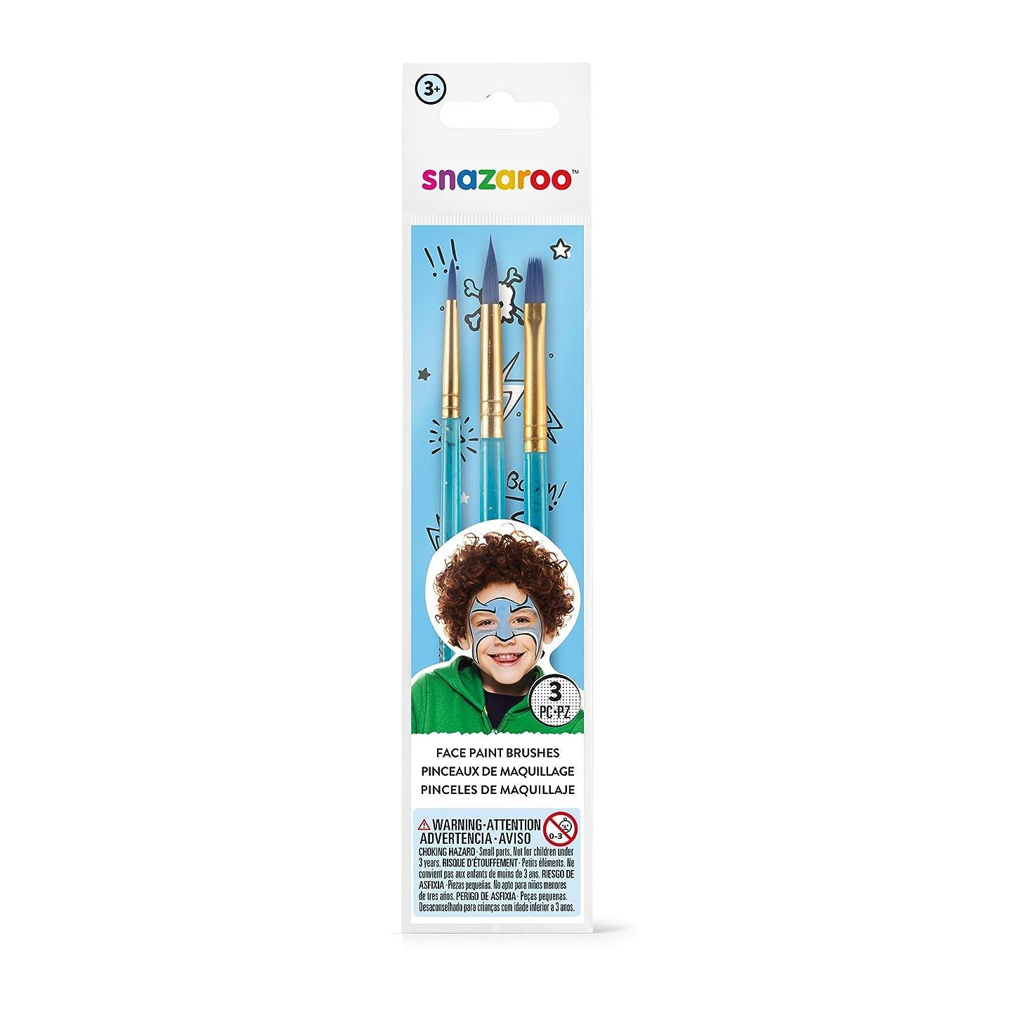 Snazaroo Blue Starter Brushes  - Set of 3