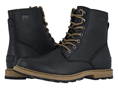 SOREL 6 Madsontm Boot Waterproof (Black/Ancient Fossil) Men