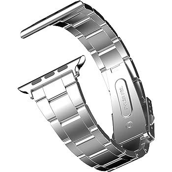 JEDirect Apple Watch 用バンド 42mm と 44mm Series対応 ステンレス留め金製 シルバ