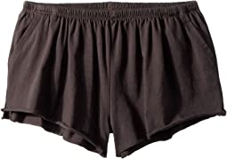 Jersey Shirred Flounce Shorts (Big Kids)