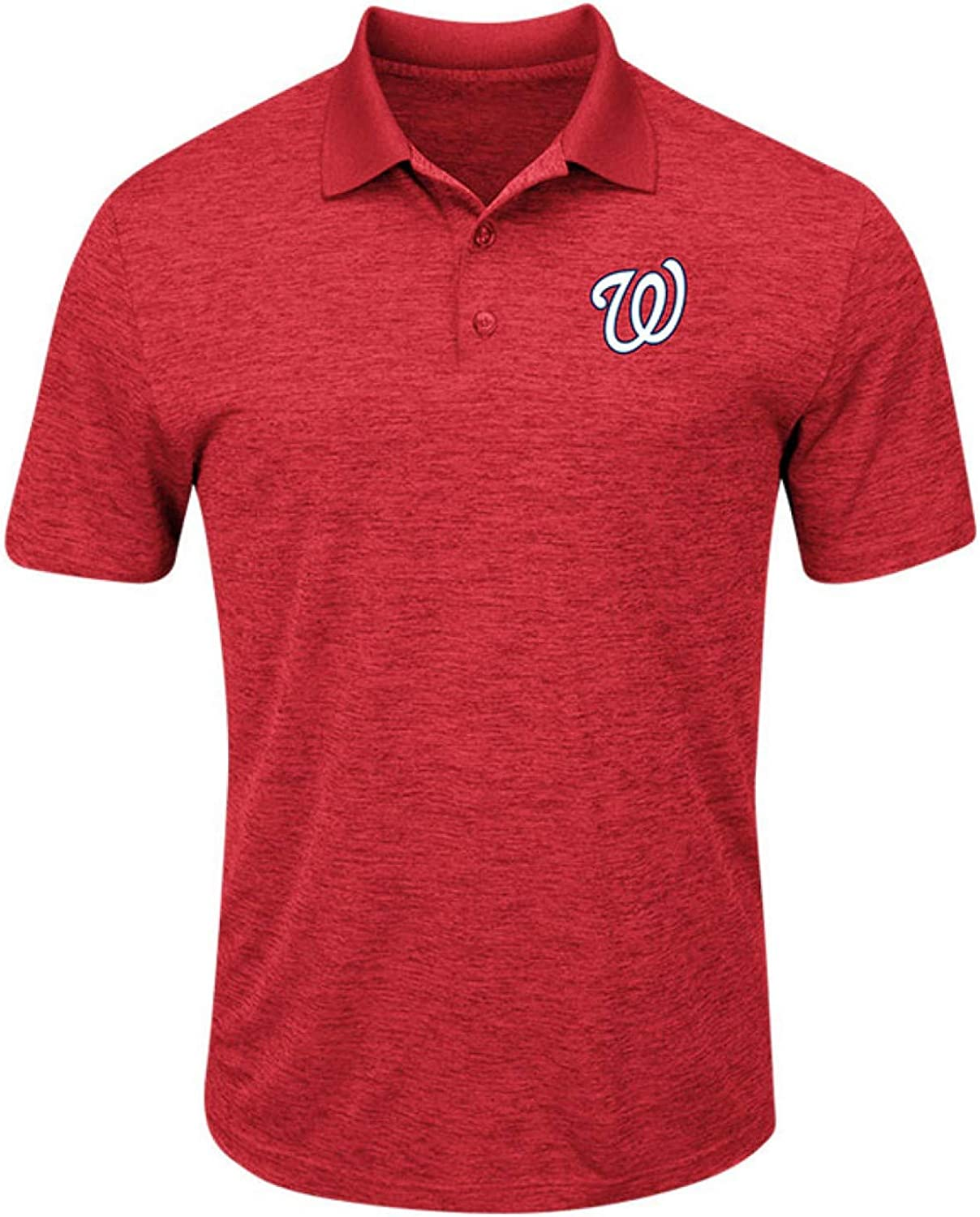 Majestic Men's Washington Nationals First Hit Polo Shirt (Small)