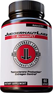 Juggernaut Labz RechargePCT Natural Testosterone Booster & Post Cycle Therapy