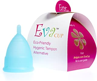 Anigan EvaCup, Top-Quality, Reusable Menstrual Cup, Eco-Friendly Alternative to Tampons, Blizzard Blue, Small