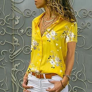 Romanly 2019 Autumn Elegant Long Sleeve Print V Neck Chiffon Blouse Female Work Wear Shirts Plus Size 5XL Lapel Blusa