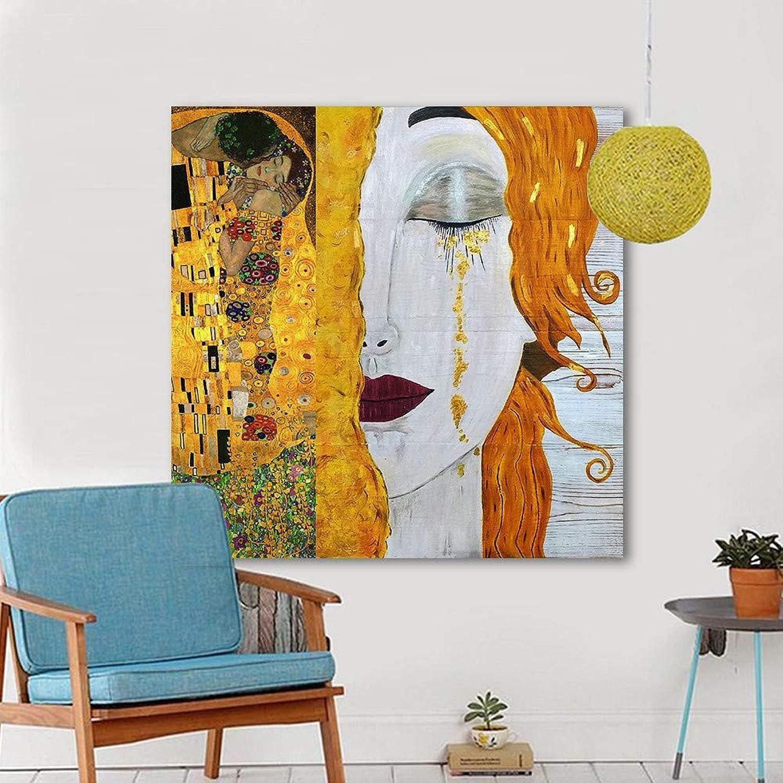 promociones JAG Pintura al al al óleo Moderna Lienzo Abstracto oro lágrimas Cuadros de Parojo para Sala de EEstrella decoración del hogar  el mejor servicio post-venta