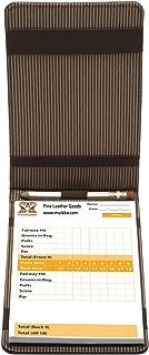 Muiska Leather Front Pocket Golf Scorecard Yardage Stats Book Case Cover Holder with Elastic Pencil Band