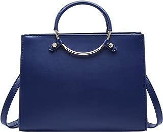 Leather Handbag for Women Fashion Ladies Shoulder Purse Top Handle Bag Royal Blue