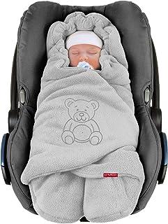 ByBoom ByBoom - Baby Winter-EinschlagdeckeDas Original mit dem Bären, Universal für Babyschale, Autositz, z.B. für Maxi-Cosi, Römer, für Kinderwagen, Buggy oder Babybett, Farbe:Grau