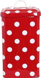 北欧 スウェーデン ストレームシャガ キャニスター缶 (ドットスクエアー) レッド661504