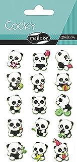 Maildor Pandas tragicómico Pegatinas, Multi-Color