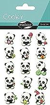 Maildor CY016O Packung mit Stickers Cooky 3D (1 Bogen, 7,5 x 12 cm, ideal zum Dekorieren, Sammeln oder Verschenken, Panda) 1 Pack