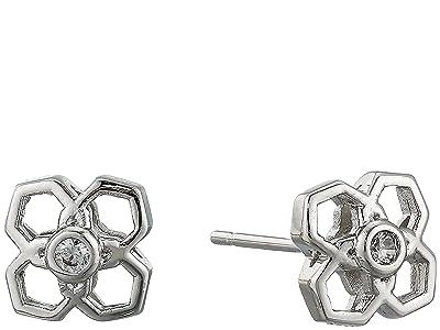 Kendra Scott Rue Stud Earrings (Rhodium Metal) Earring