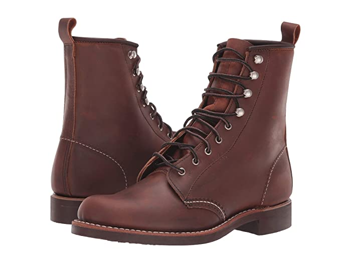 Vintage Style Shoes, Vintage Inspired Shoes Red Wing Heritage Silversmith Copper Rough  Tough Womens Lace-up Boots $339.95 AT vintagedancer.com