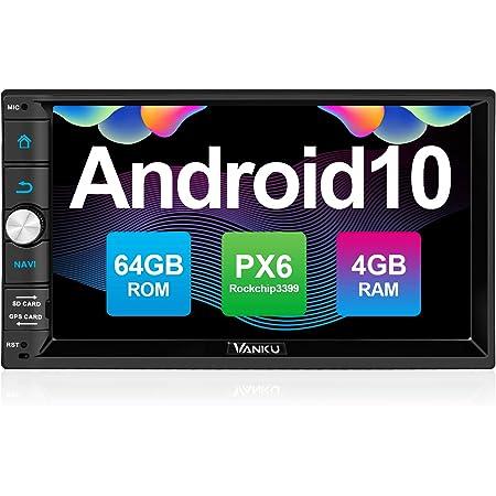 Vanku Android 10 Autoradio Mit Navi Px6 64gb 4gb Elektronik