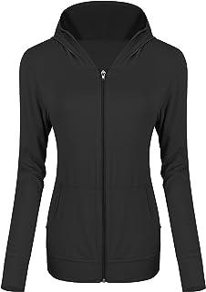 Urban CoCo Women's Full Zip Hoodie Modal Cotton Jacket