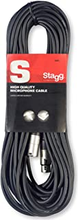 Stagg 10m High Quality XLR to XLR Plug Microphone Cable, Negro