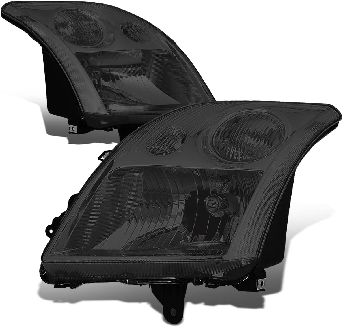DNA Motoring HL-OH-078-SM-CL1 Mail order Smoke Replacement Headlights Lens excellence