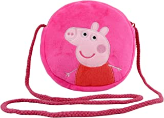 HXQ Pink purse Lovely Little Shoulder Bags, plush circle Crossbody Bags for Kids Toddlers Preschoolers Girls Boys