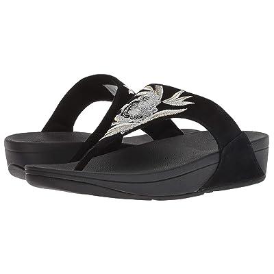 FitFlop Lulu Baroque Toe Thong Sandals (Black) Women
