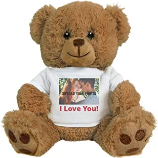 Cute Custom Photo Valentine's Bear Gift: 8 Inch Teddy Bear Stuffed Animal