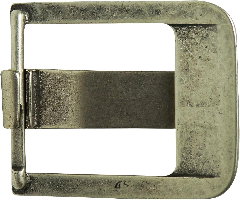 moderne Schnalle FRONHOFER klassische G/ürtelschnalle altsilber unisex f/ür Wechselg/ürtel 4,5 cm 18257 breiter Dorn