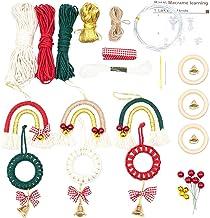 DIY Macrame -kit, Jul Rainbow -hängsmycken Med Klockor, Flätat Rep, Träringar, Vägghängande Dekor Bomullsverktygssats För ...
