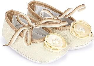 Bootie Pie Baby Girl's Twintones Beige and Brown Booties-(Bptt16m) Booties-6-9 Months (17.5 EU) (BPTT16)