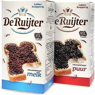 Chocolate sprinkles - Milk & Dark - pack of 2 premium chocolate jimmies - ChocoladeHagel. Total: 14.1 oz / 400 g. Delicious Dutch Hagelslag