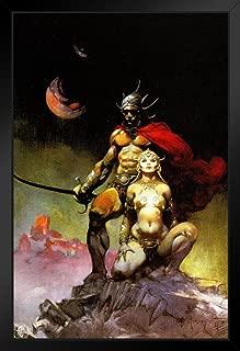 Swords of Mars by Frank Frazetta Black Wood Framed Art Poster 14x20