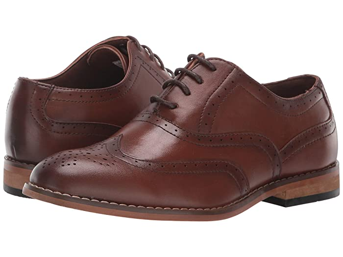 1920s Style Mens Shoes | Peaky Blinders Boots Stacy Adams Kids Dunbar Little KidBig Kid Cognac Boys Shoes $51.34 AT vintagedancer.com
