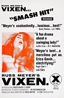 Posterazzi Aka Russ Meyer'S Vixen Us Art Erica Gavin 1968 Movie Masterprint Poster Print (11 x 17)