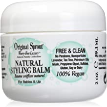 Original Sprout Natural Styling Balm. Non-Toxic Firm Holding Hair Styling Balm. 2 Ounces Single Pack.