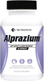 Alprazium - All Natural Stress Relief Anti-Anxiety Supplement for Promoting Better Mood Relaxation Calming ...