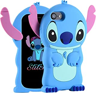 Cases for iPhone 5S 5 5C SE Case, Lilo Stitch Cute 3D Cartoon Unique Soft Silicone Animal Rubber character Shockproof Anti-bump Protector Boys Kids Girls Gifts Cover Housing Skin For iPhone 5S/ 5/5C/S
