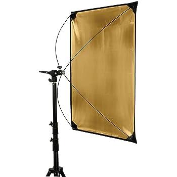 Neewer Pannello Riflettente Piatto d/'Illuminazione 80x150cm Dorato//Argento e Nero//Bianco con Staffa di Montaggio Girevole a 360 Gradi /& Borsa di Trasporto per Riprese Fotografia in Studio