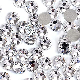 Rhinestones for Nails 1440pcs Crystal AB/Clear Crystal Flatback Glass Rhinestones Nail Art Crystals Diamond Art Round Flatback Gems Stones DIY Decoration (Clear Crystal ss16)